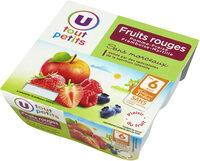 Pots pour bébé dessert pomme fruits rouges - Produit - fr