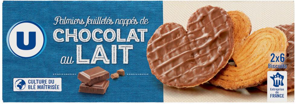 Palmier nappé au chocolat au lait - Product - fr