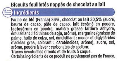 Palmier nappé au chocolat au lait - Ingrediënten - fr