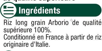 Riz long arborio - Ingrédients - fr