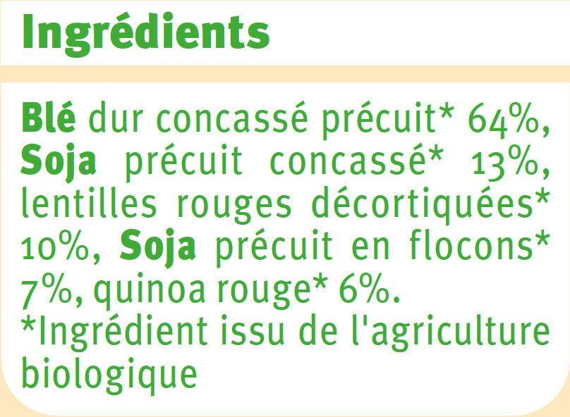 Mélange de céréales et légumes secs - Ingrediënten - fr