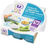 Assiette fondue de légumes et colin d'Alaska - Product - fr