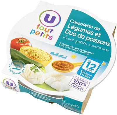 Assiette cassolette de légumes et poissons - Product - fr
