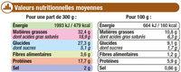 TARTIFLETTE - Nährwertangaben - fr
