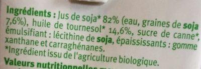 Soja cuisine - Ingredienti - fr