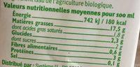 Soja cuisine - Valori nutrizionali - fr