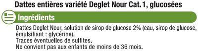 Datte Deglet Nour - Ingrediënten - fr