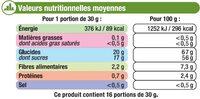 Datte Deglet Nour - Informations nutritionnelles