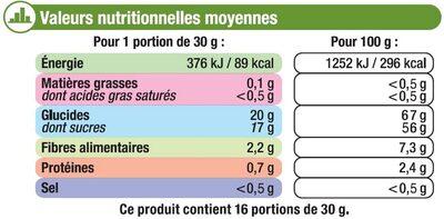 Datte Deglet Nour - Voedingswaarden - fr