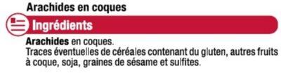 Cacahuètes en coques - Ingrediënten - fr