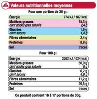 Cacahuètes en coques - Informations nutritionnelles - fr