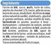 Muffins au goût vanille et aux pépites chocolat - Ingrédients - fr