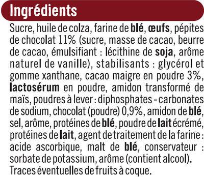 Muffins goût chocolat et aux pépites de chocolat - Ingrédients - fr