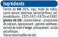 Pain de mie moule ouvert - Ingrediënten - fr