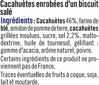 Cacahuètes enrobées goût salé - Ingredients - fr
