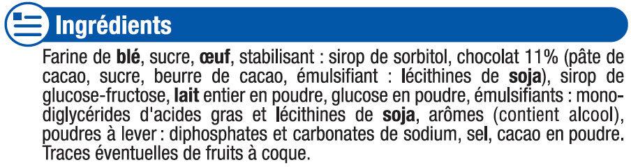 Mini roulé au chocolat - Ingredients - fr