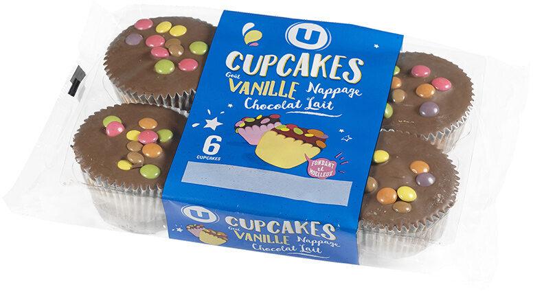 Cupcakes vanille nappé goût chocolat - Product