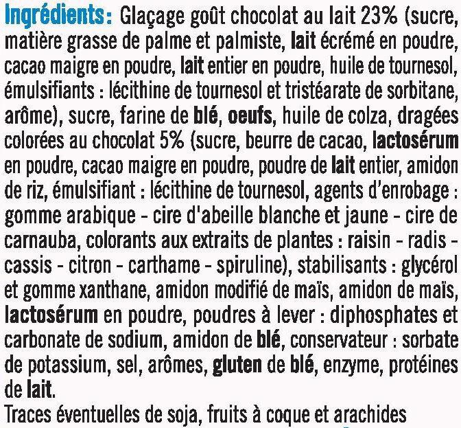 Cupcakes vanille nappé goût chocolat - Ingrediënten