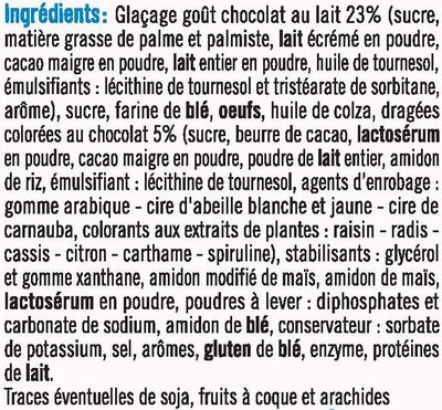 Cupcakes vanille nappé goût chocolat - Ingrediënten - fr