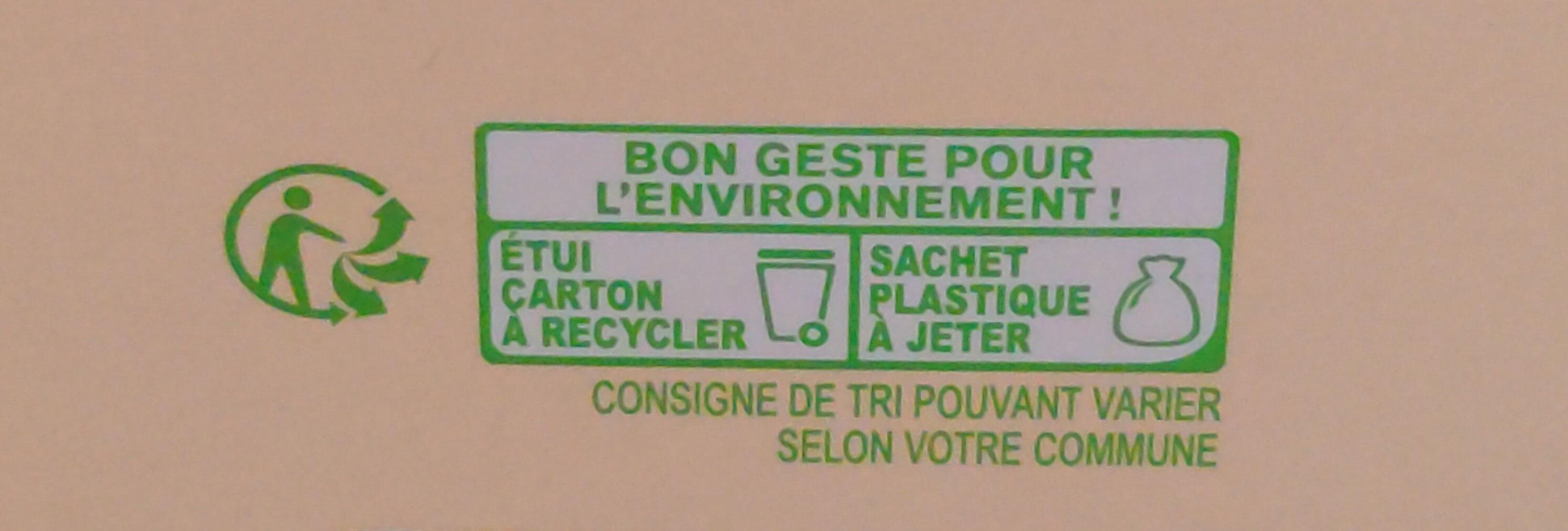 Muesli croustillant au chocolat - Instruction de recyclage et/ou informations d'emballage - fr