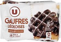 Gaufres Liégeoises Nappage Goût Chocolat - Product - fr