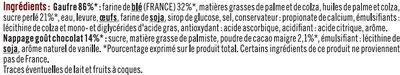 Gaufres Liégeoises Nappage Goût Chocolat - Ingrediënten - fr