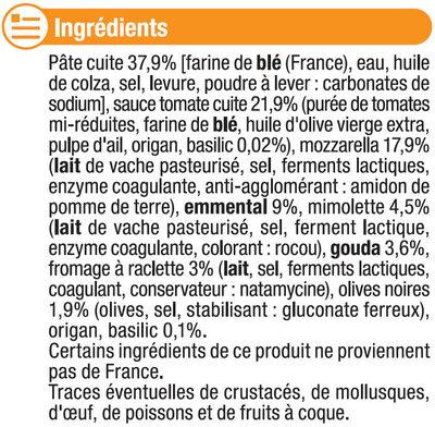 Pizza aux 5 fromages - Ingrédients