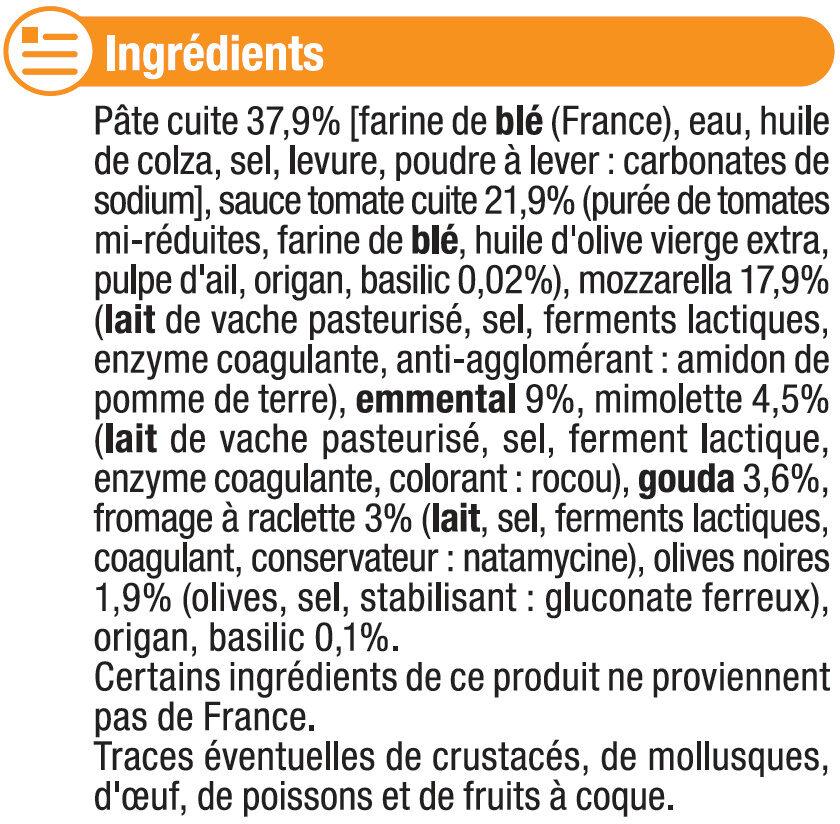 Pizza aux 5 fromages - Ingrediënten