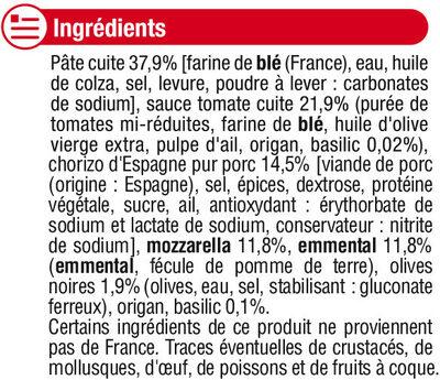 Pizza au chorizo d'Espagne - Ingrediënten