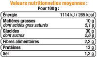 Pizza aux 5 fromages - Informations nutritionnelles - fr