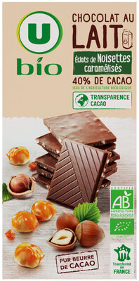 Tablette de chocolat au lait et noisettes caramélisées - Product