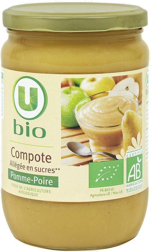 Bocal allégée en sucre compote de pomme poire - Product