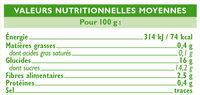 Bocal allégée en sucre compote de pomme poire - Voedigswaarden