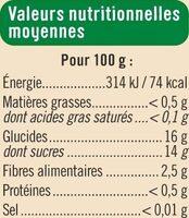 Compote de Pomme-Poire Allégée en sucre - Informations nutritionnelles - fr