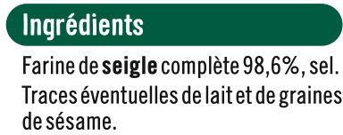 Tartine croustillante seigle - Ingredients - fr