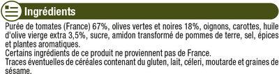 Sauce tomates et olives - Ingrediënten