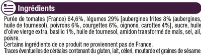 Sauce cuisinée aux légumes - Ingrédients - fr