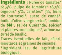 Sauce provencale au légumes - Ingrédients