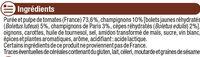 Sauce tomates et champignons - Ingrédients