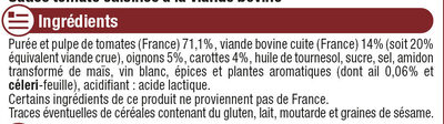 Sauce bolognaise - Ingredientes - fr
