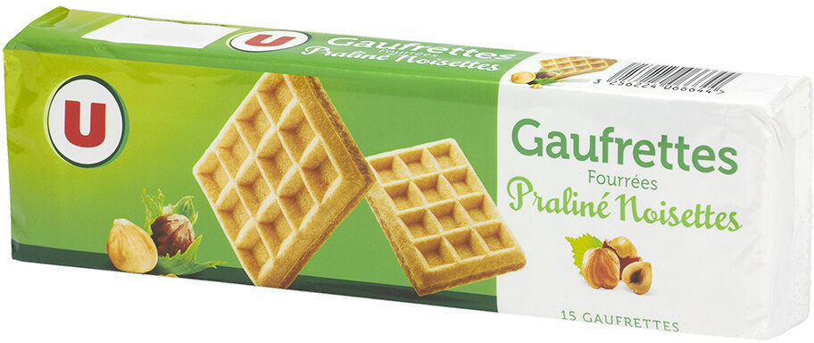 Gaufrettes fourrées noisettes et praliné - Produit - fr