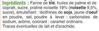 Gaufrettes fourrées noisettes et praliné - Ingrédients - fr
