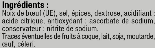 Viande séchée de boeuf - Ingrédients - fr