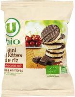 Mini galette de riz nappée de chocolat noir - Prodotto - fr