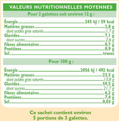Mini galette de riz nappée de chocolat noir - Valori nutrizionali - fr