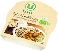 Tofu à l'indienne riz Basmati et lentilles - Produit