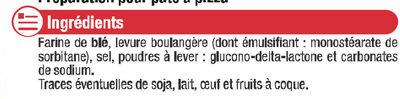 Préparation pour pâte à pizza - Ingrédients - fr