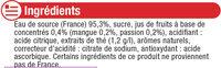 Boisson au thé glacé saveur mangue passion - Ingrédients