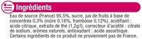 Boisson au thé glacé saveur mûre framboise - Ingrédients - fr