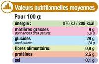 Glace au café avec grains de chocolat - Informations nutritionnelles - fr